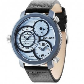 Montre Police Mamba 3H Silver Dial Black Strap Homme R1451249002