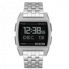 Nixon Base Black Plateado watch Unisex A1107000